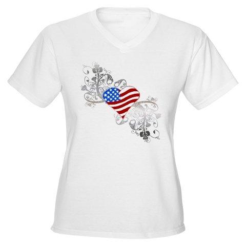 Heart American Flag
