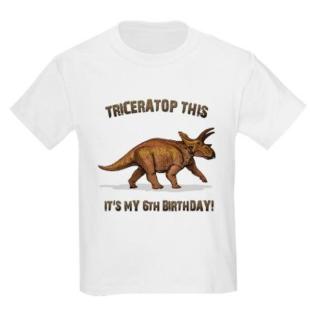 Triceratop This It's My 6th Birthday!
