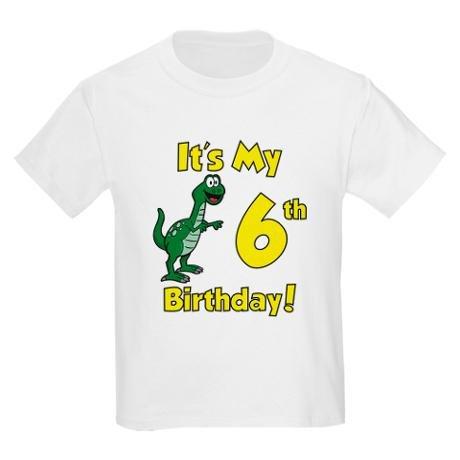 It's My 6th Birthday (Dinosaur)
