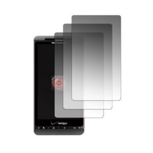 Transparent Clear Screen Protector for Motorola Droid X MB810 with Lint Cleaning Cloth, 3 Packs