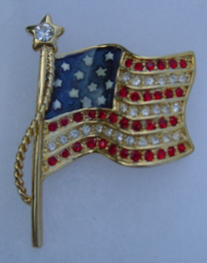 New Gold Flag Brooche