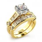 Gold Plated AAA Grade CZ Ring Size 6
