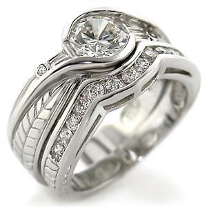Brass, Rhodium, AAA Grade CZ, Clear Ring Size 7 (252)