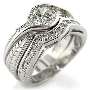 Brass, Rhodium, AAA Grade CZ, Clear Ring Size 9 (252)