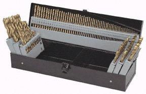 115 Piece Titanium Nitride Coated M2 High Speed Steel Drill Bit Set