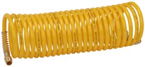 """Coiled Air Hose 1/4"""" x 20 Ft. Yellow"""