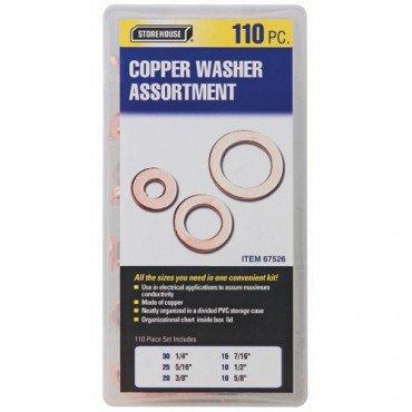 Copper Washer Assortment 110 Piece