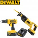 DEWALT 18V CORDLESS DRILL AND RECIPROCATING SAW