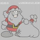Christmas Santa rhinestone design