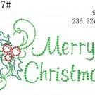 Christmas rhinestone motif