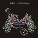 Mardi Gras hot fix stone motif