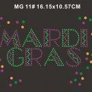 Mardi Gras rhinestone design