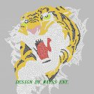 Tigers rhinestone designs