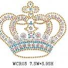Crown design rhinestone motif