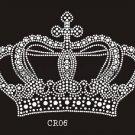 Crown design rhinestone transfer