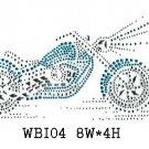 Bike and motorcycle rhinestone design