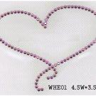 Heart design rhinestone transfer