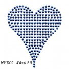 Hot fix motif heart design