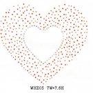 Heart design stone motif