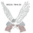 Eagle design rhinestone transfer