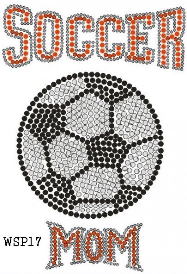 Soccer rhinestone design