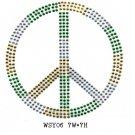 Peace sign rhinestone motifs