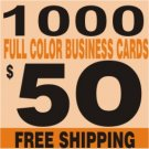 1000 Custom Full Color Business Card  FREE SHIPPING