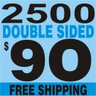 2500 Custom Full Color Business Card  FREE SHIPPING