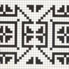 Counted cross stitch pattern - Romanian embroidery -8