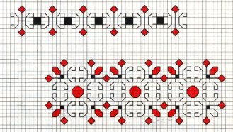 Counted back  stitch pattern - Romanian embroidery -15
