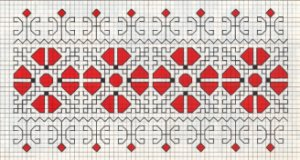 Counted back  stitch pattern - Romanian embroidery -16