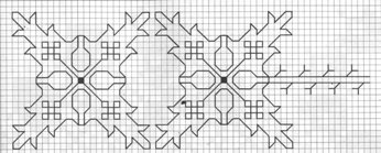 Counted back  stitch pattern - Romanian embroidery -20