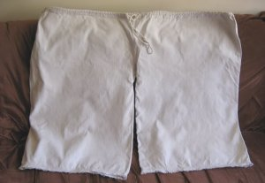 Vintage hand woven HEMP Romanian peasant trousers