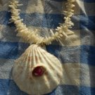 GIANT Genuine Ruby from Madagascar on Shell Necklace #6