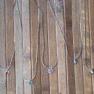 Genuine Gemstone/Birthstone Butterfly Necklaces Rubies, Sapphires, etc. #20