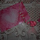 Pink Turquoise Freshwater Pearl Roseate Spoonbill Feather Necklace