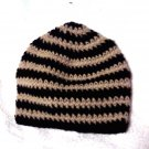 Skullie: Black & Cream Striped