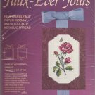 Faux-Ever Yours Rose 7801 CrossStitch Kit Marble Mat