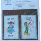 Permin of Copenhagen Grethe Lives Here Wall Hanging Embroidery Kit 70-6357