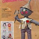"Bucilla Needlecraft Kit ~ Soft Sculptural 21"" Wizard of Oz Tin Man Doll"