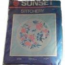 Sunset Stitchery 2306 Chinese Peonies Crewel Kit 16 x 16 Inches