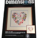 Dimensions Heart of Love Counted Cross Stitch Embroidery Kit-3555