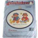 Dimensions 7640 Lucy Bear Collection Friendly Welcome Counted Cross Stitch Kit, Craft Kit