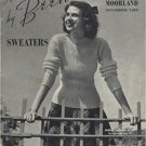 Sweaters Introducing Moorland Non-shrink Yarn (Hand Knits by Beehive, 121) Pamphlet – 1941
