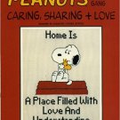 Peanuts Gang Caring, Sharing+ Love Designs in Counted Cross Stitch