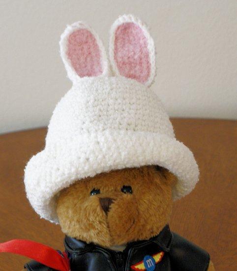 Newborn - White Bunny Easter Hat
