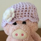 Purple with white flower, Infants Beanie hat