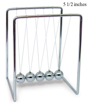 "Newtons Cradle Balance Balls Law Art in motion 5 1/2"""