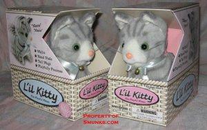 Grey lil Kitty little gray cute cat toy walks fun NEW