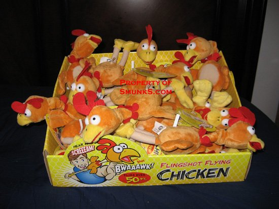Screaming Slingshot Flying Chicken Toy Rooster $2.99 !!